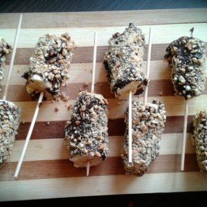 Sucettes bananes chocolat