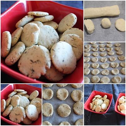Biscuits salés romarin