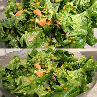 salade epinars pamplemousse