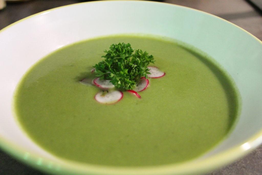 soupe fane de radis